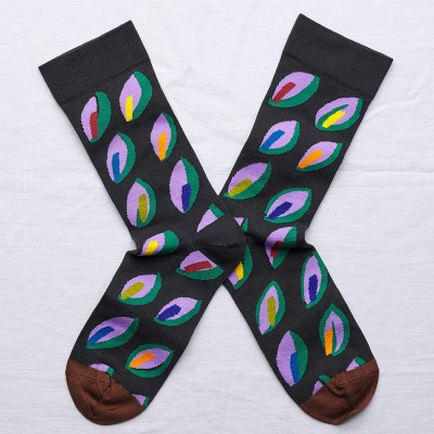 Bonne Maison Socks - Dark Leaf