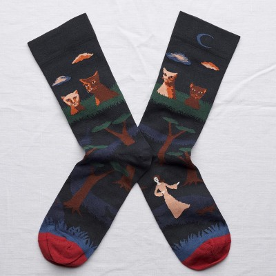 Bonne Maison Socks - Night Cat