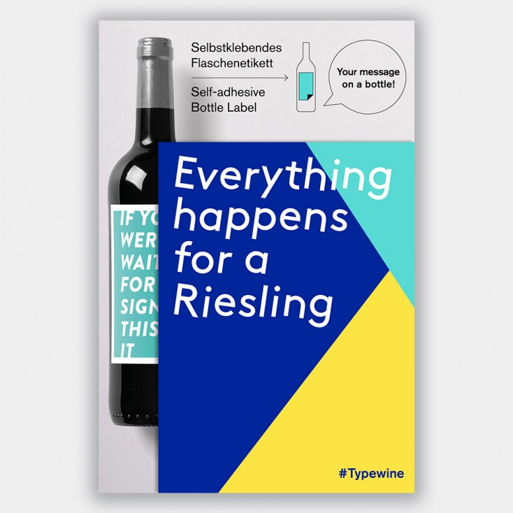 Typewine Wine Bottle Label - Happens For A Riesling