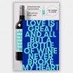 Typewine Wine Bottle Label - No Heartbreak