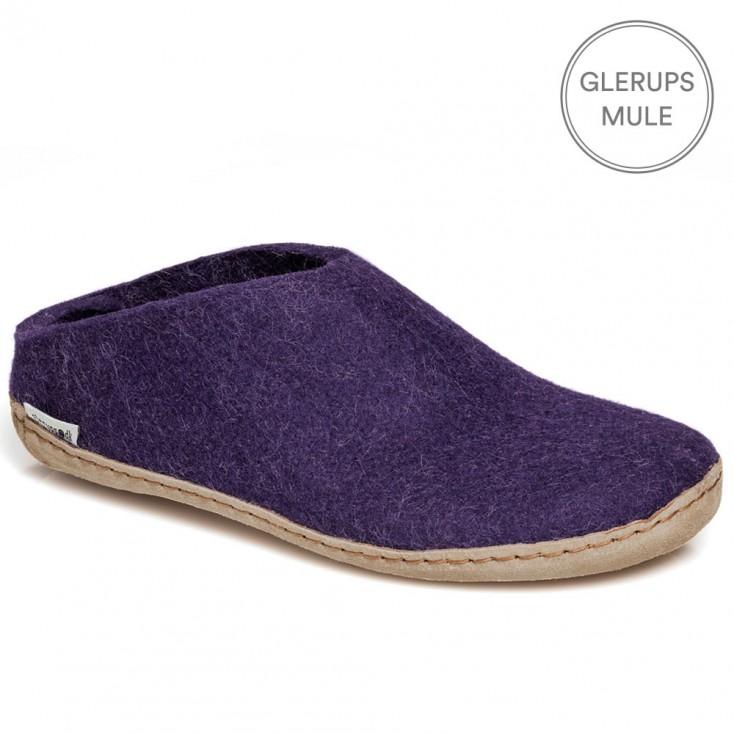 Glerups Felt Mule - Purple