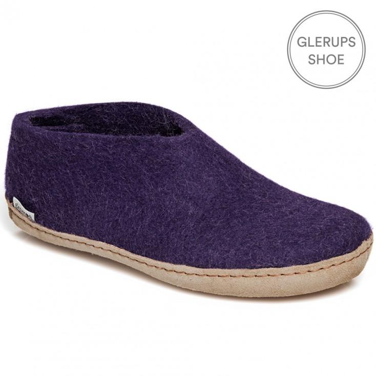 Glerups Felt House Shoe - Purple
