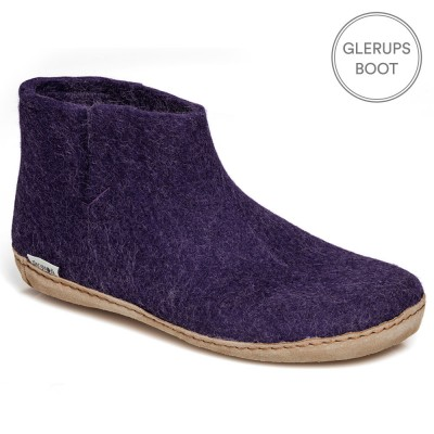 Glerups Felt Ankle Boot - Purple