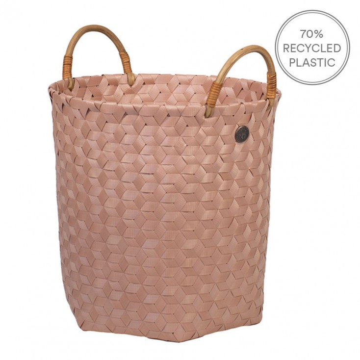 Handed By Dimensional Basket With Handles - Copper Blush