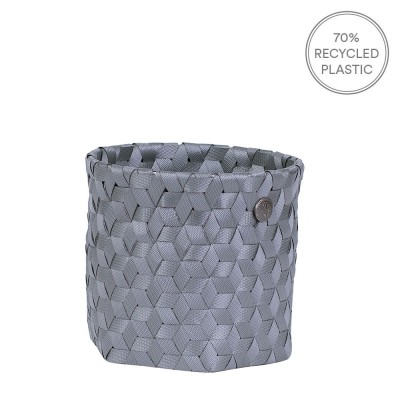 Handed By Mini Dimensional Basket - Dark Grey