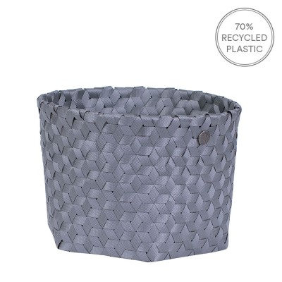 Handed By Small Dimensional Basket - Dark Grey