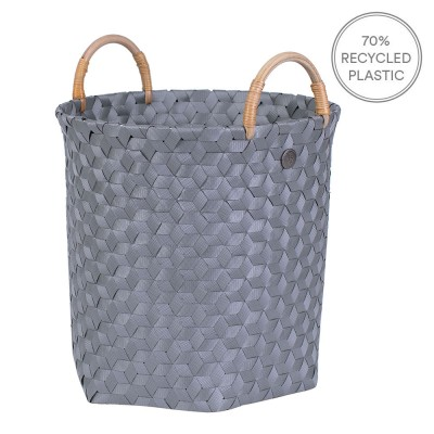Handed By Dimensional Basket With Handles - Dark Grey