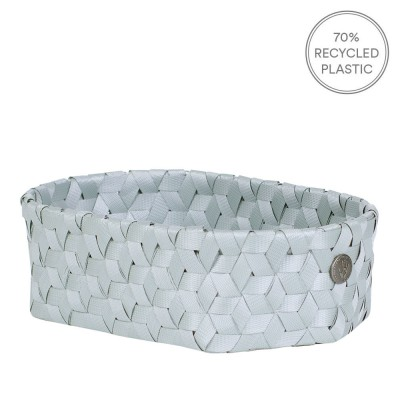 Handed By Mini Oval Dimensional Basket - Eucalyptus