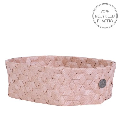 Handed By Mini Oval Dimensional Basket - Copper Blush