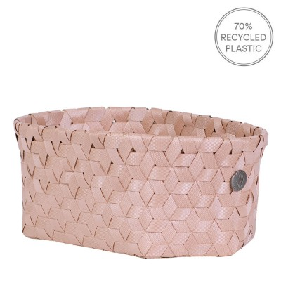 Handed By Small Oval Dimensional Basket - Copper Blush