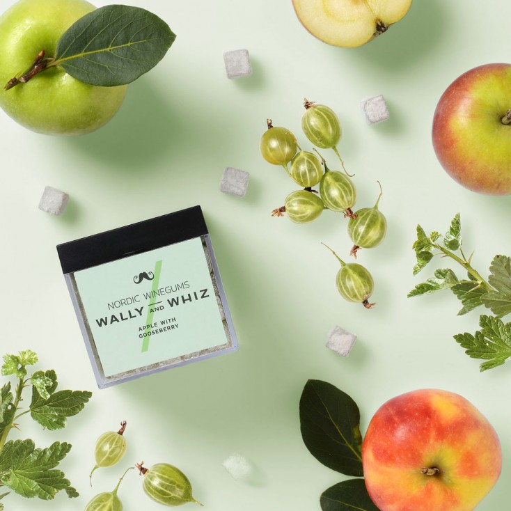 Wally & Whiz Nordic Wine Gums - Apple with Gooseberry