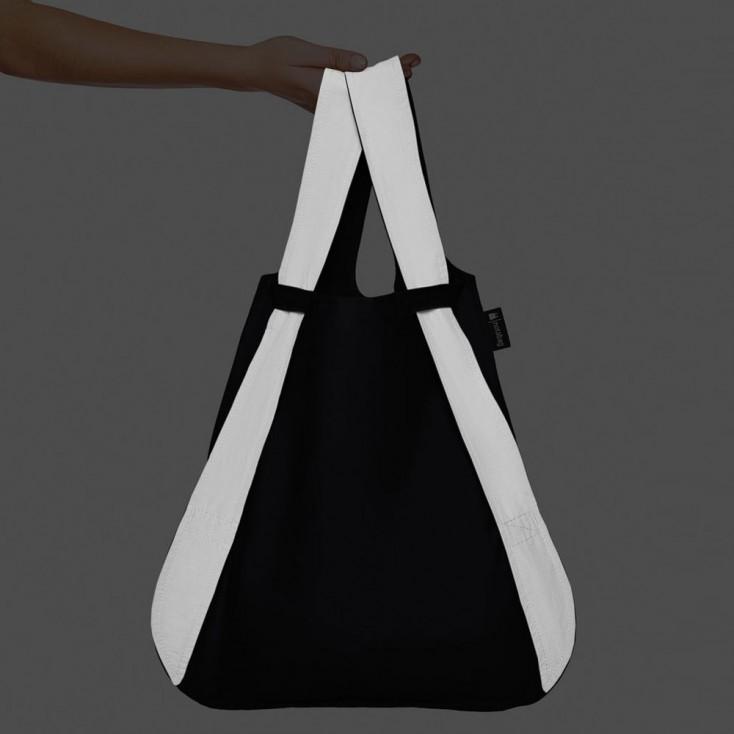 Notabag Transforming Tote - Black Reflective