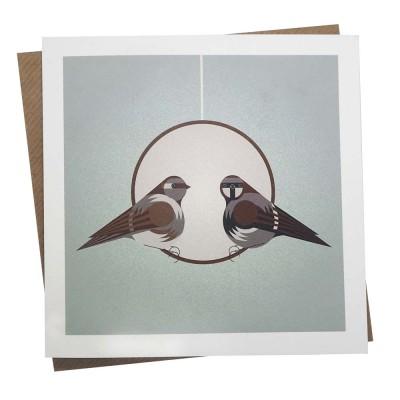 Coconut Feeder Greetings Card