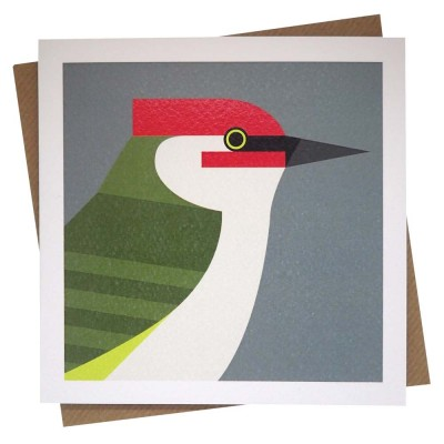 Green Woodpecker Greeting Card