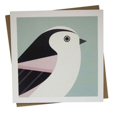 Longtailed Tit Greeting Card