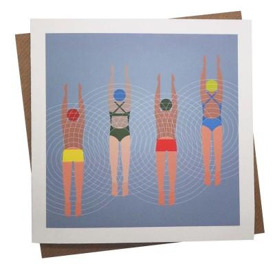 Divers Greeting Card