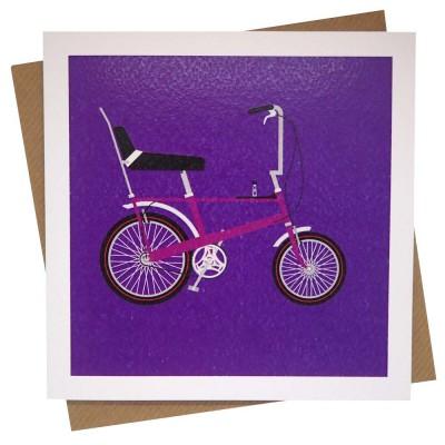 Purple Chopper Greeting Card