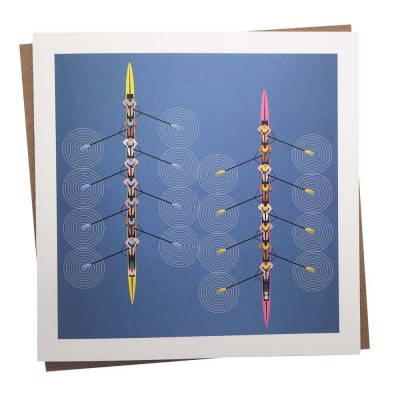 Rowing Eight Greeting Card