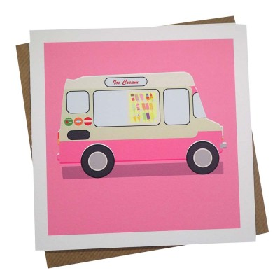 Ice Cream Van Greeting Card