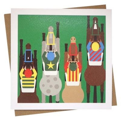 Jolly Jockeys Greeting Card