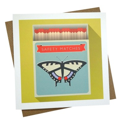 Swallowtail Matches Greeting Card