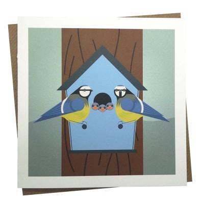 Blue Bird Box Greeting Card