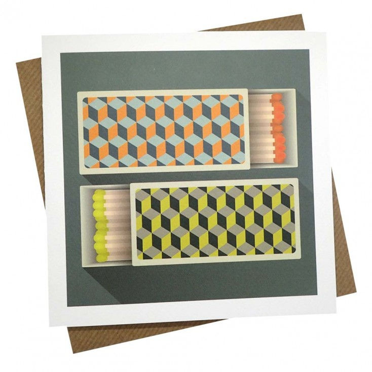Matching Matches Greeting Card