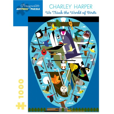 Pomegranate Charley Harper World Of Birds 1000 Piece Jigsaw Puzzle