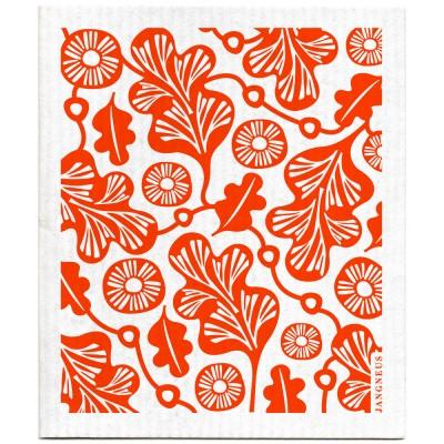 Jangneus Dishcloth - Orange Oak Leaf