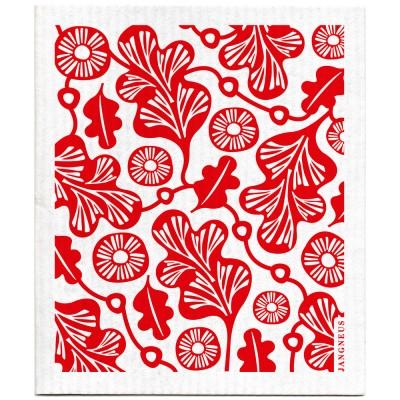 Jangneus Dishcloth - Red Oak Leaf