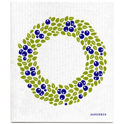 Jangneus Cellulose Dishcloth - Blueberry Wreath