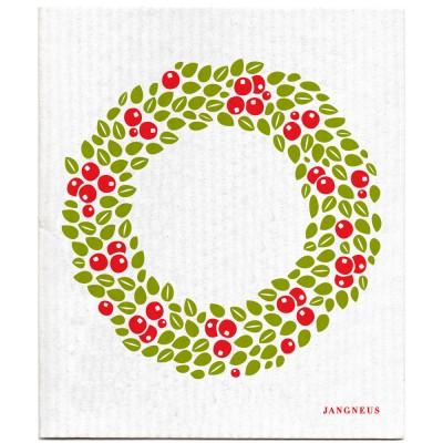 Jangneus Dishcloth - Red Wreath