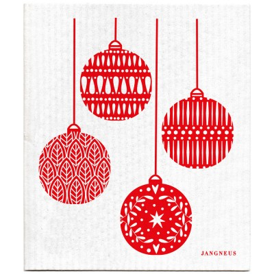 Jangneus Dishcloth - Red Baubles