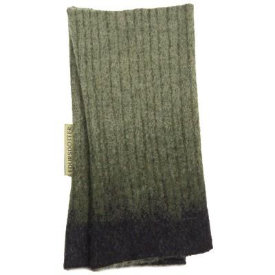 Edursdotter Felted Wool Wristwarmers - Lotus Green