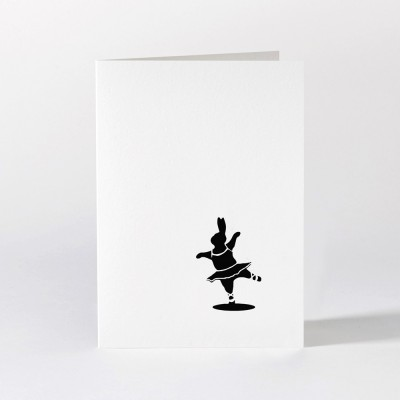 Ham Greeting Card - Ballet Rabbit