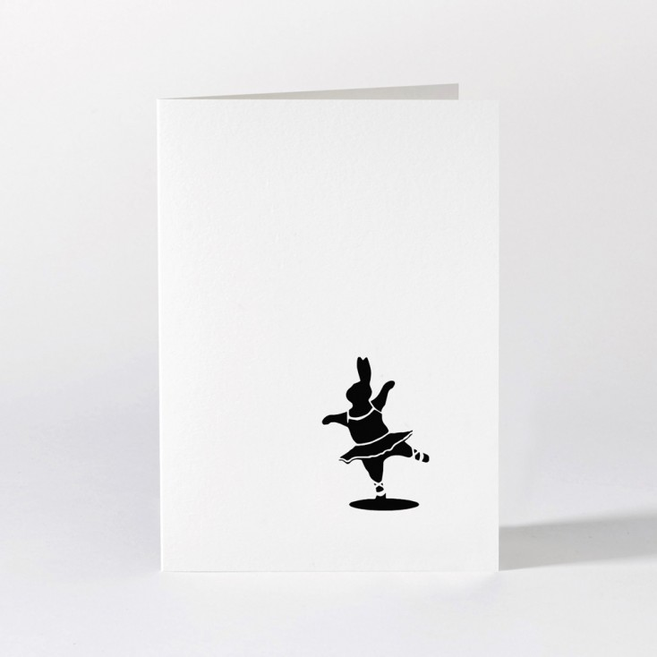 Ham Greeting Card - Ballet Rabbit