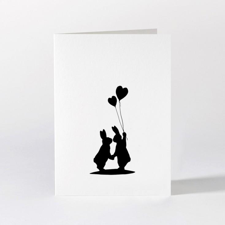 Ham Greeting Card - Lovestruck Rabbit