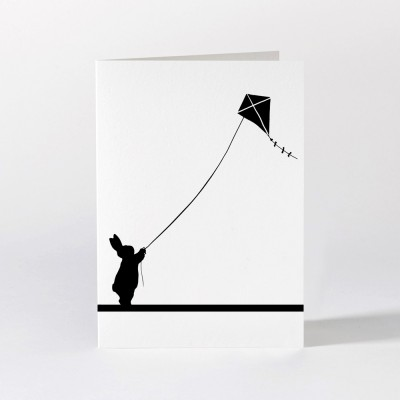 Ham Greeting Card - Kite Flying Rabbit