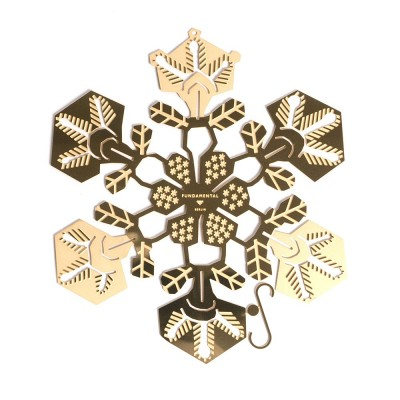 Fundamental Brass Snowflake Decoration