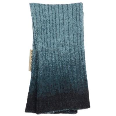 Edursdotter Felted Wool Wristwarmers - Lotus Petrol