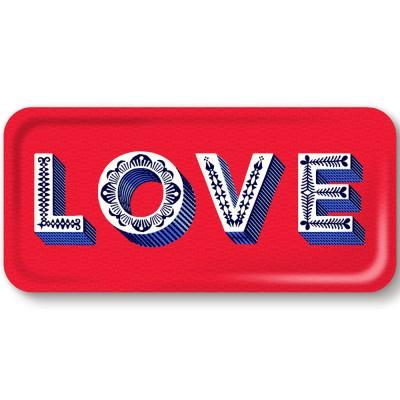 Asta Barrington Red Love Slim Tray By Jamida