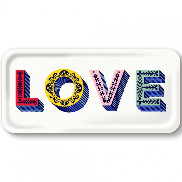 Asta Barrington Multi Love Slim Tray By Jamida
