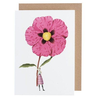 Laura Stoddart Cistus Greeting Card