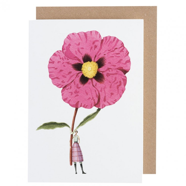 Laura Stoddart Cistus Greeting Card