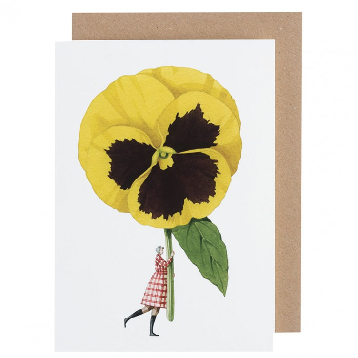 Laura Stoddart Pansy Greeting Card
