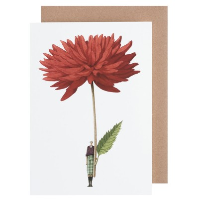 Laura Stoddart Dahlia Greeting Card