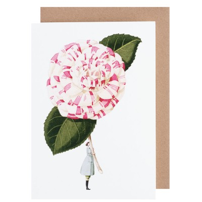 Laura Stoddart Camelia Greeting Card
