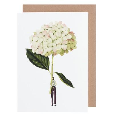 Laura Stoddart Green Hydrangea Greeting Card