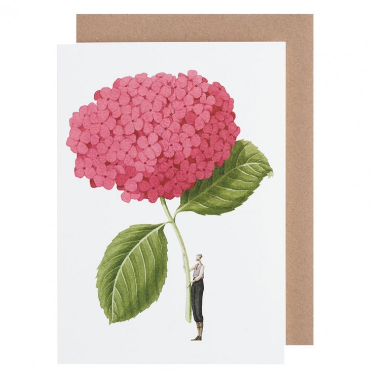 Laura Stoddart Pink Hydrangea Greeting Card