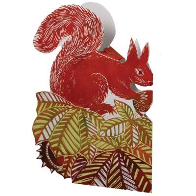 Judy Lumley 3D Squirrel Card